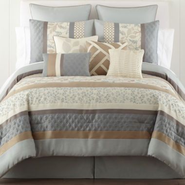 Home Expressions™ Napa 10-pc. Comforter Set & Accessories  found at @JCPenney