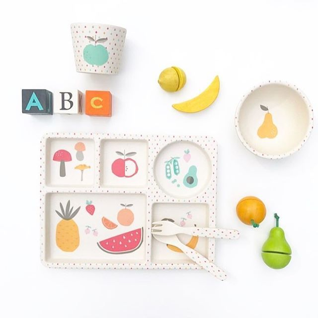 Never forget to eat your greens! 🥑🍉🍌🍒🍍This 5pc set and other styles from our Bamboo# range have been restocked at @babyswagco #lovemaestudio #babyswag #bamboo