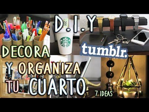 DIY: DECORA Y ORGANIZA TU CUARTO TUMBLR   FÁCIL Y RÁPIDO.-