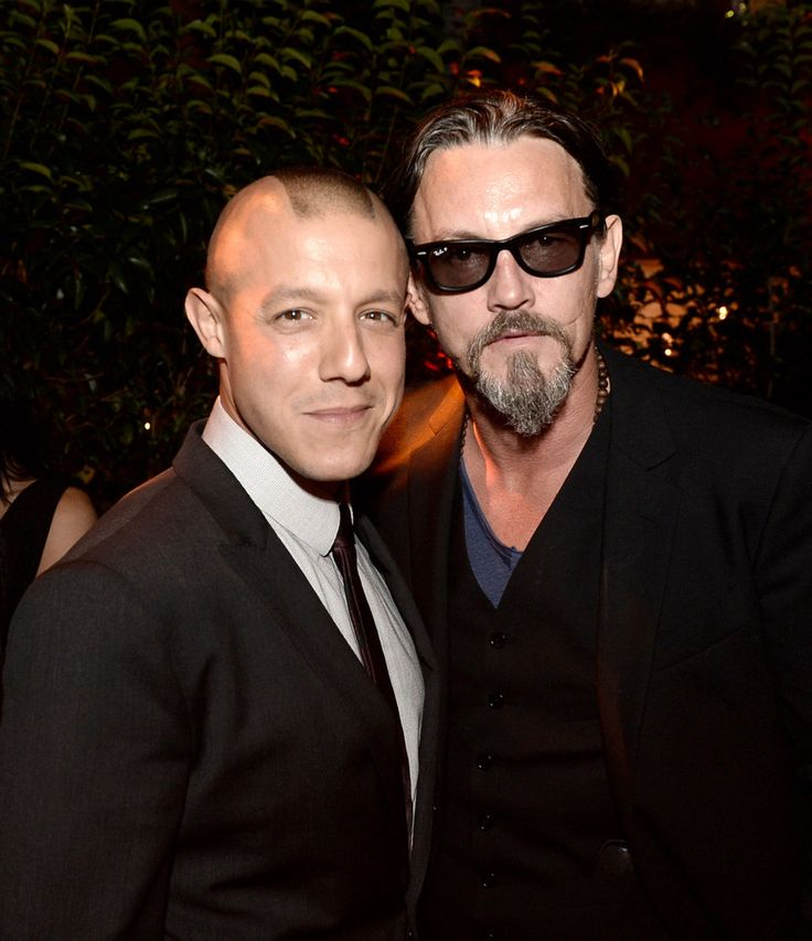 """Tommy Flanagan Photos - Actors Theo Rossi (L) and Tommy Flanagan pose at the after party for the premiere of FX's """"Sons of Anarchy"""" Season 6 at the Roosevelt Hotel on September 7, 2013 in Los Angeles, California. - Premiere Of FX's """"Sons Of Anarchy"""" Season 6 - After Party"""
