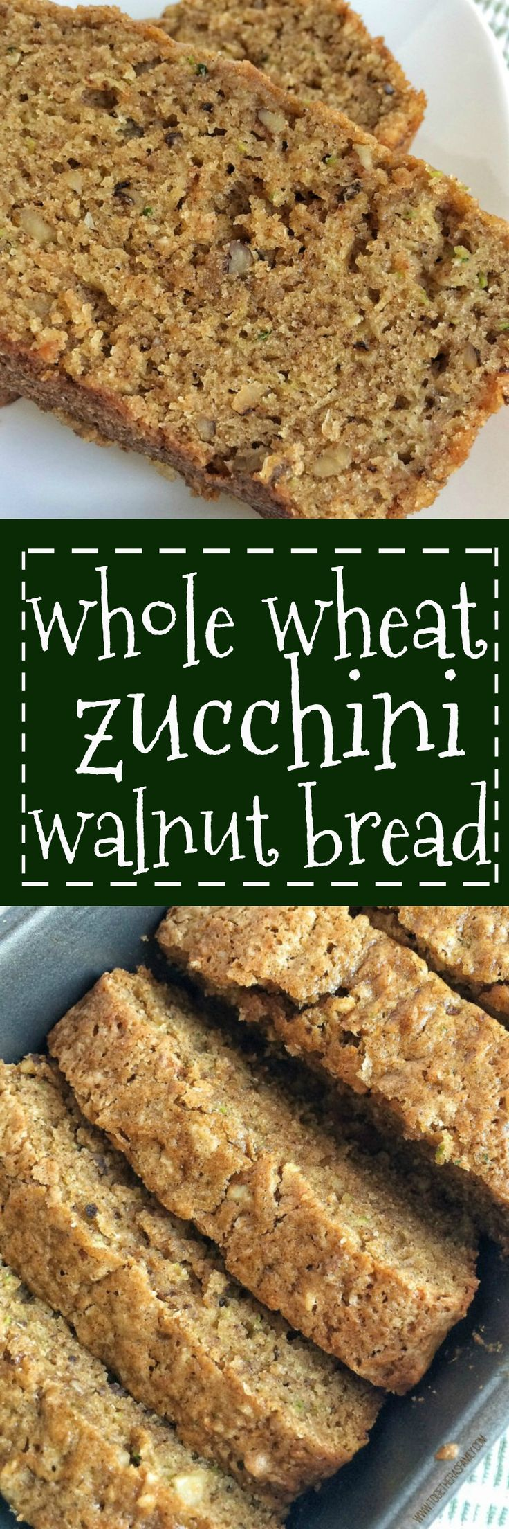 Whole wheat flour combined with 2 cups of shredded zucchini & chopped walnuts make this quick bread so moist, hearty, and delicious! Put all that garden zucchini abundance to good use or just take advantage of the low price of seasonal produce, like zucchini!