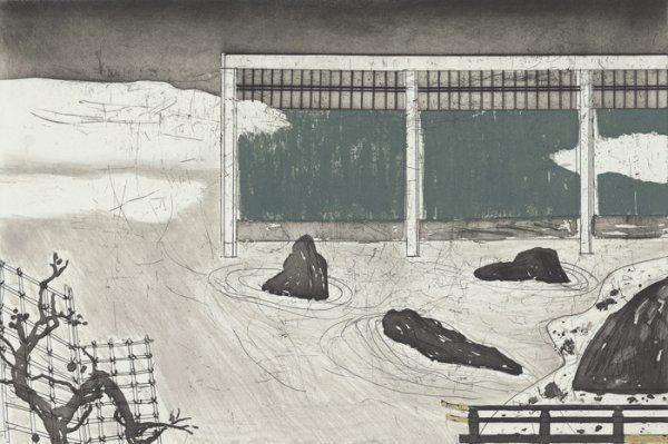 Japanese Garden - Elizabeth Blackadder