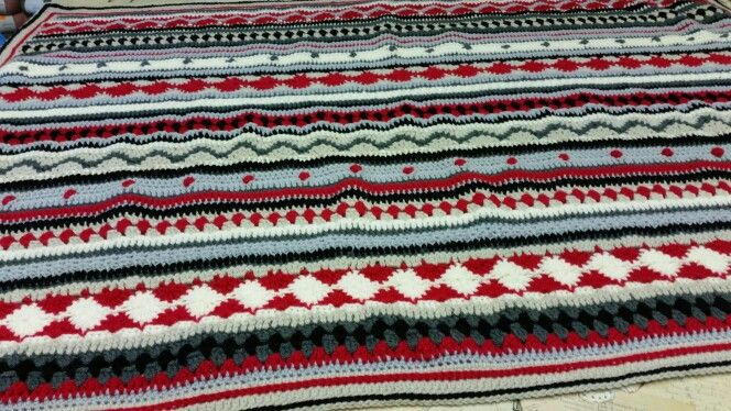 As we go stripey crochet along from one of our workshops