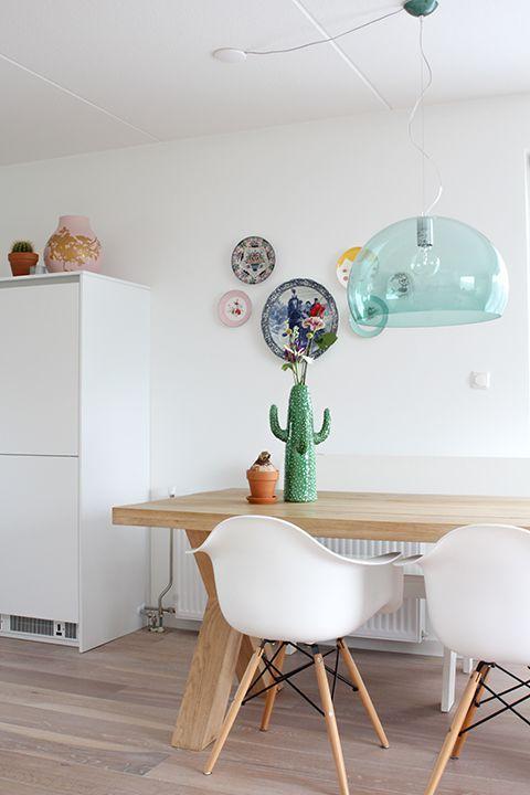 Project Deborah, een kleuradvies voor woonkamer en eetkamer. #woonkamer #eetkamer #behang #zwartwit