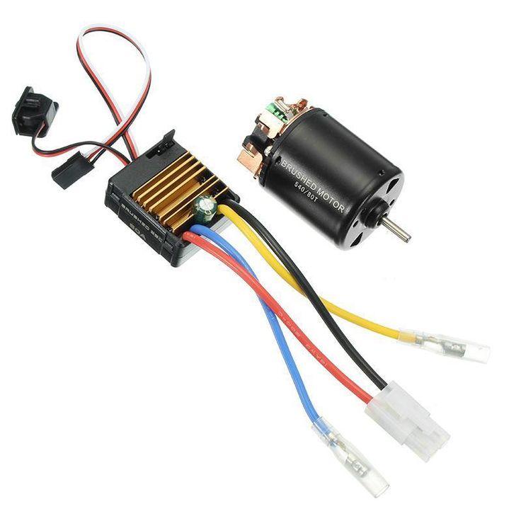 540 Motor 60A ESC Carbon Brushed 1/10 RC Crawler Shaft 3.175mm RC Car Parts #rcmotors #tinymotors #rcparts #rcstuff   eBay