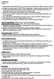 Police Officer Resume Objective Statements Examples Federal Law Enforcement  Good For