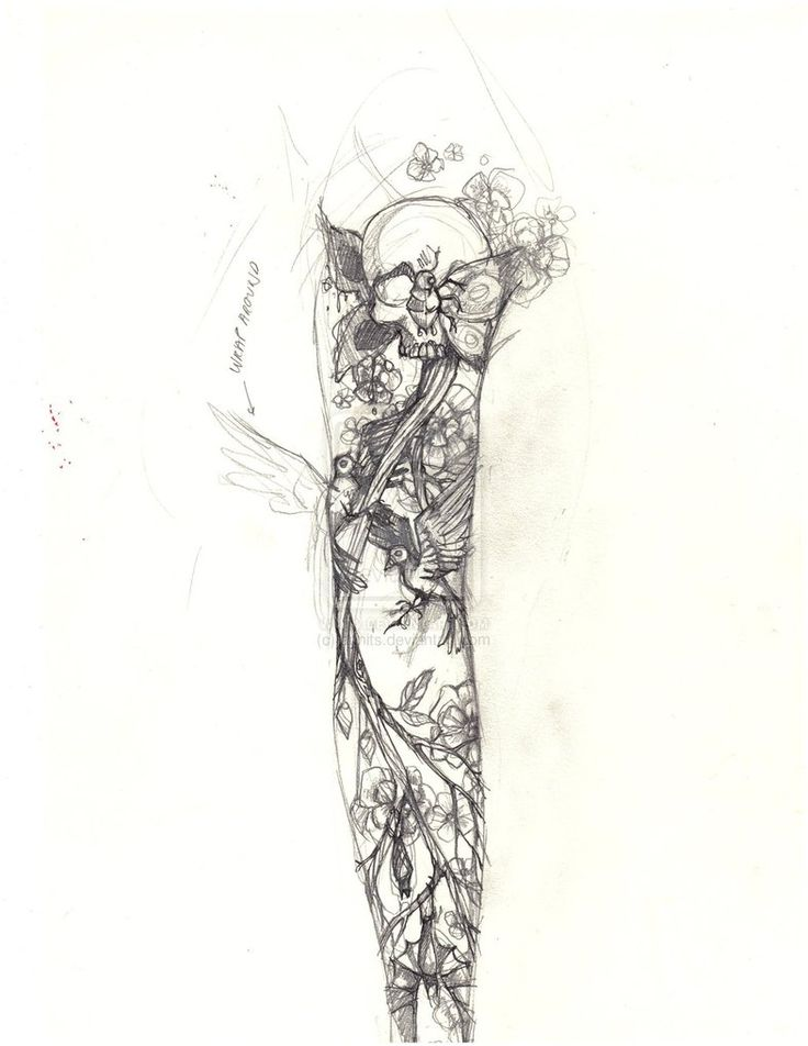 Tattoo Sleeve Sketches: 42 Best Sexy Half Sleeve Tattoo Sketches Images On