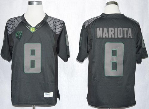 the best attitude d0ea0 b8ac4 Ducks #8 Marcus Mariota Blackout Limited Stitched NCAA ...