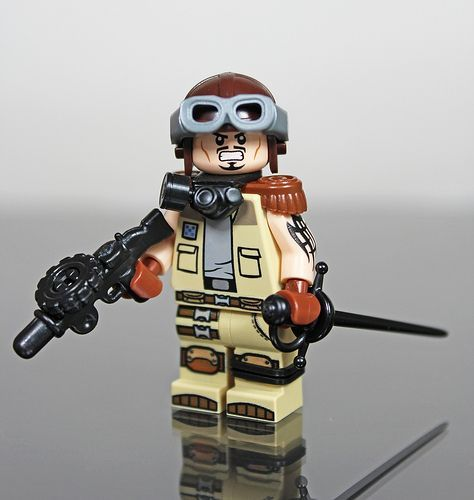 Steampunk Aviator Custom Minifigure