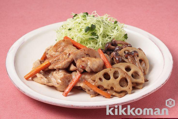 秋野菜のだし生姜焼きのレシピをご紹介。豚肉とれんこんを使って簡単お手軽に調理できます。炒め物や煮物から揚げ物まで様々な献立レシピを簡単検索!お弁当や健康(ダイエット)レシピもご用意しています。キッコーマンのレシピサイト【ホームクッキング】