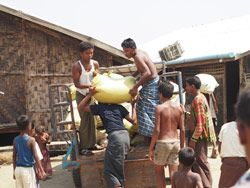 """""""All in all, it had a bit of an impact to be hugged by the leaders of a community that is starving. If felt right to be there with the men who call us 'brothers'."""" Save The Rohingya   Partners Relief & Development"""