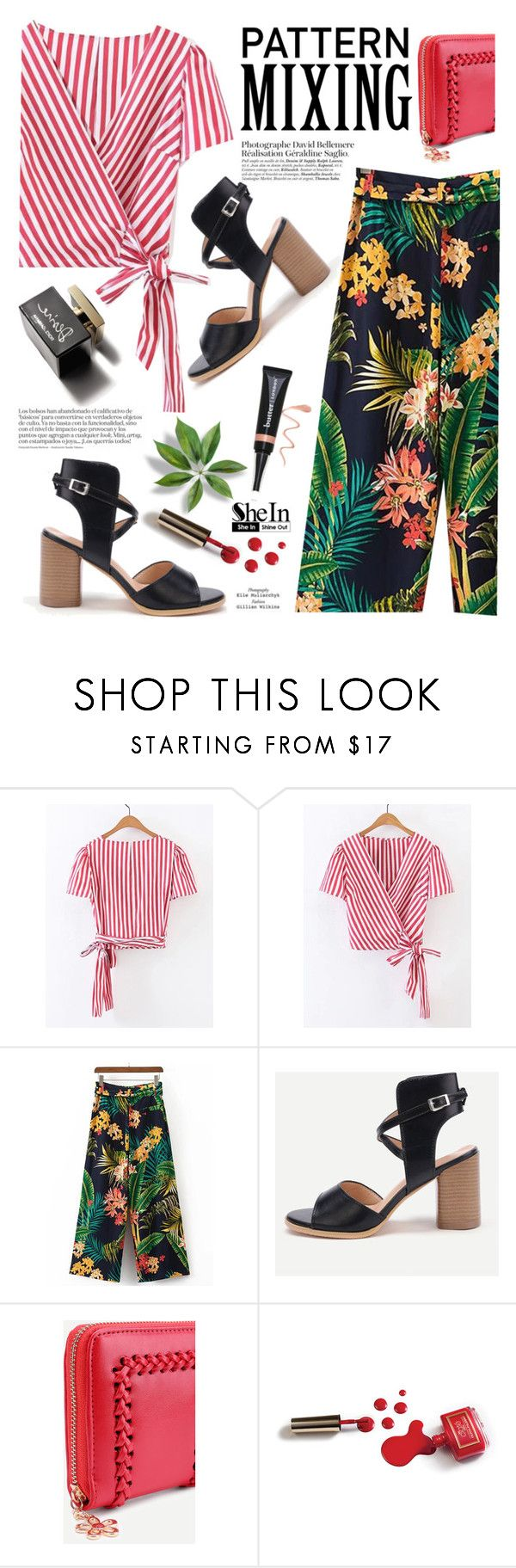 """Pattern Mixing/Floral-Stripes"" by yexyka ❤ liked on Polyvore featuring D&G, Ciaté and Butter London"