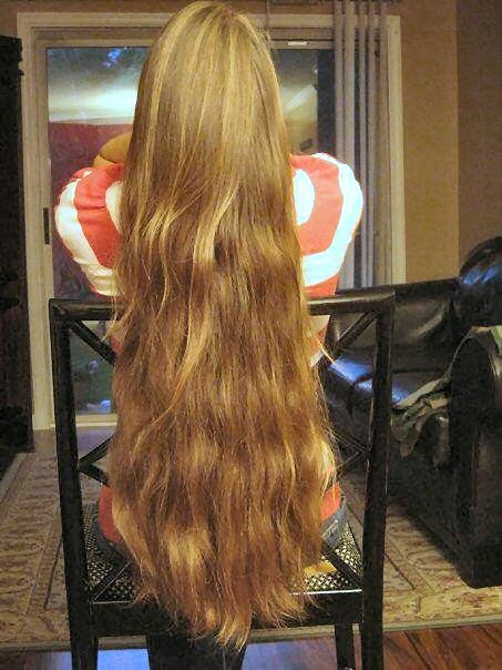 extremely long thick hair