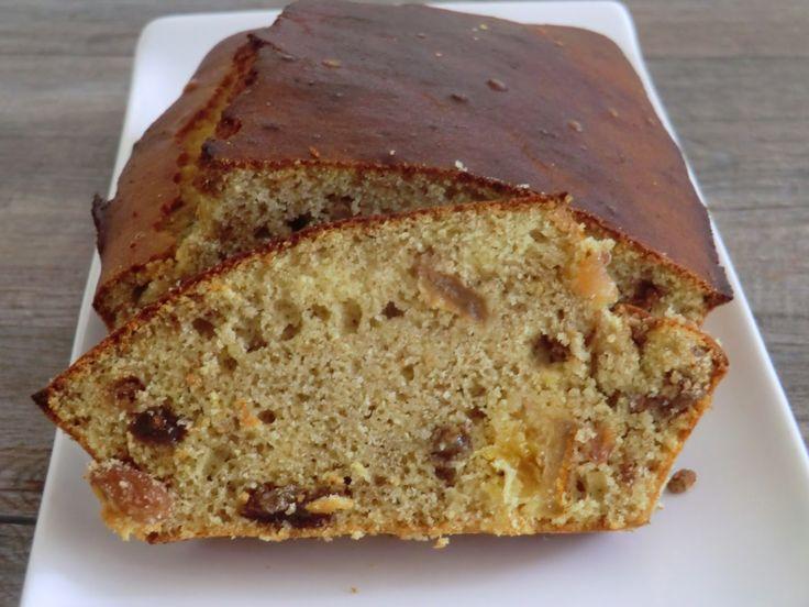 Cake aux raisins secs, au citron et au rhum sans gluten et sans lactose