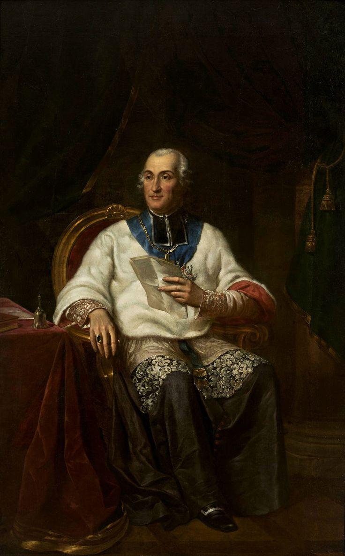 Portrait of Adam Krasiński (1714-1800), bishop of Kamieniec by Antoni Brodowski, ca. 1823 (PD-art/old), Muzeum Narodowe w Warszawie (MNW)