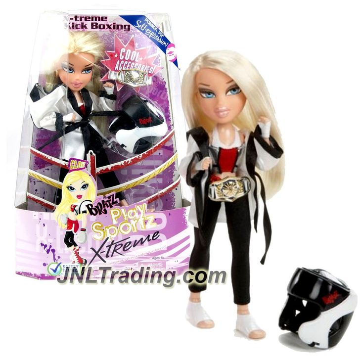 MGA Entertainment Bratz Play Sportz X-treme Series 10 Inch Doll - CLOE In Kick Boxing with Champion Belt and Sparring Helmet