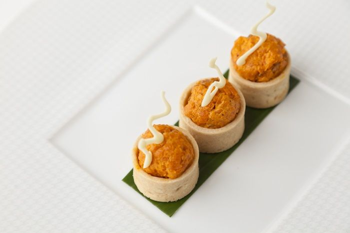 Carrot fudge by Vineet Bhatia http://www.greatbritishchefs.com/recipes/carrot-fudge-recipe