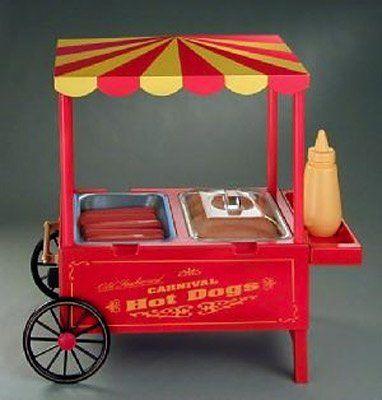 Old Fashioned Carnival Style Hot Dog Cart Hotdog Maker