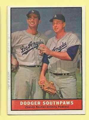1961 Topps Dodger Southpaws (Koufax-Podres) #207 NrMt.