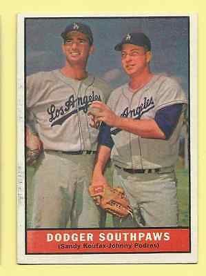 1961 Topps Dodger Southpaws (Koufax-Podres) #207 NrMt.