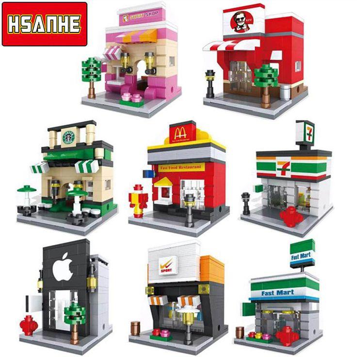 Arquitectura Nanoblockse HSANHE Mini Bloques de Construcción de Ladrillos Niños Educativos Compatible Legoe Ciudad Ladrillos juguetes regalo para los niños