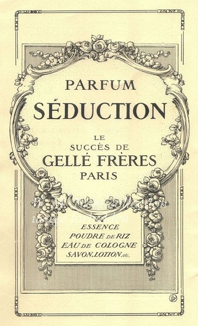 Perfume Ad #vintage #illustration #artnouveau