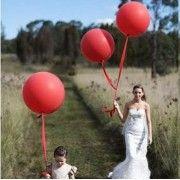 Ballon rond géant ROUGE 86cm