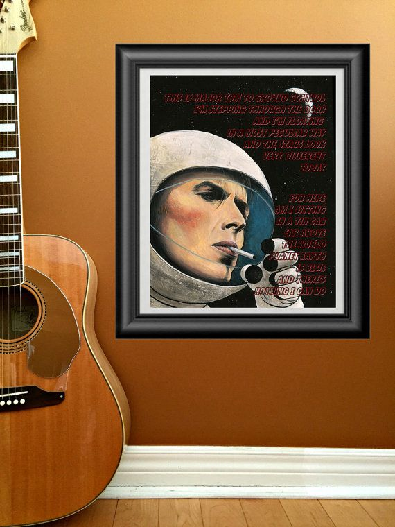 Space Oddity by David Bowie printable wall by PrintableSongParts