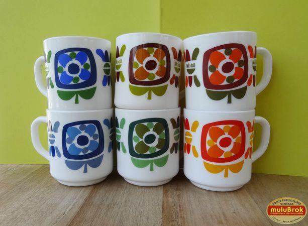 Vaisselle Vintage ... Des mugs MOBIL de toutes les couleurs ... sur www.mulubrok.fr ...