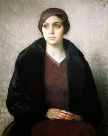 476. Donghi, Antonio - 1931 - Ritratto di donna col cappello