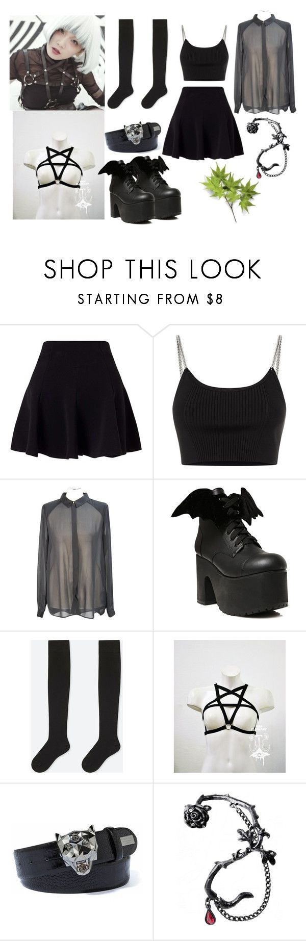 """""""Reol Inspired"""" by ingrid-ramirez-trujillo on Polyvore featuring moda, Miss Selfridge, Alexander Wang, French Connection, Current Mood y Uniqlo"""