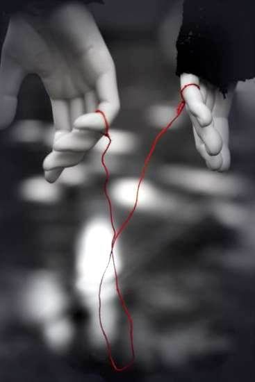 & Ldquo; An invisible thread connects those destined to meet, regardless of time, place or circumstance.  The thread may stretch or tangle up but will never go & rdquo;. .. Akai Ito _ Chinese legend of & ldquo; red thread of fate & rdquo;