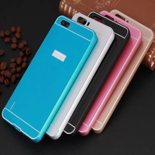 *Luxury Aluminum Metal Bumper + Acrylic Back Case Cover For Huawei Honor 6 Plus*