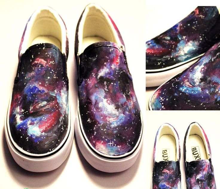 Galaxy Shoes Hand Painted Galaxy Shoes Slip-on Painted Canvas Sh,Slip-on Painted…
