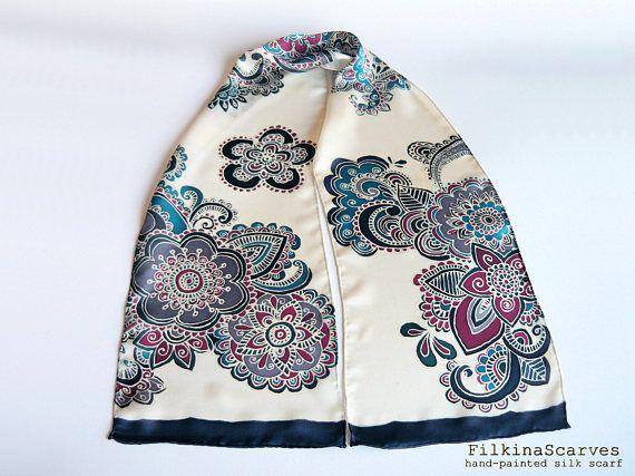 Silk Square Scarf - Mandala Ink by VIDA VIDA uS9DdMsp