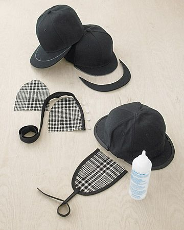 Detective costume - wouldn't have thought of doing the hat this way, coolio!