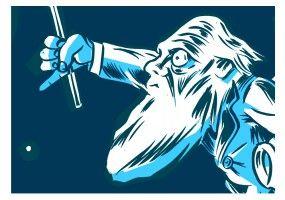 Thilo Rothacker: Darwin im Weltall   Über Evolution im Weltall. Veröffentlicht in der Frankfurter Allgemeinen Sonntagszeitung.   Format: DIN A3, ohne Rahmen   Auflage: 25 Stück, signiert   erhältlich bei www.kultstuecke.com