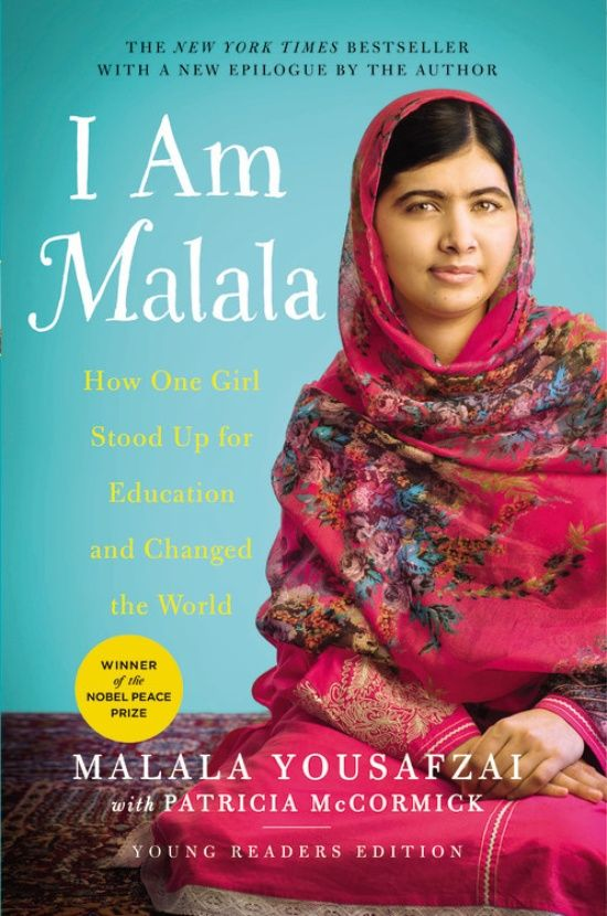 (Little Brown) At 15, Malala was shot by the Taliban for advocating for girls' rights to education in Pakistan. Her bravery and commitment to the cause made Malala an international symbol of peaceful protest. In the young readers edition of her memoir, reimagined specifically for a younger audience with award-winning author Patricia McCormick, Malala shares her remarkable story and her message of hope. I Am Malala