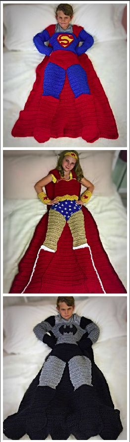 Batman, Superman, and Wonder Woman Crochet Patterns.