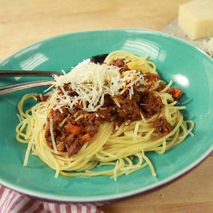 Jennie Walldéns köttfärssås och spaghetti - Mitt Kök