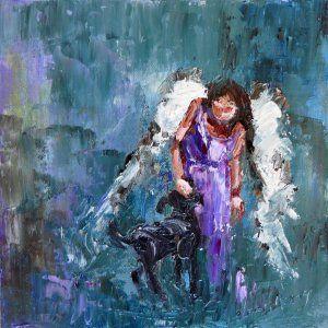angel & dog