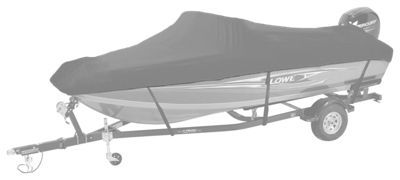Bass Pro Shops Select Fit Hurricane Boat Covers for V-Hull Models with Trolling Motor - Gray - 16'6''-17'5''