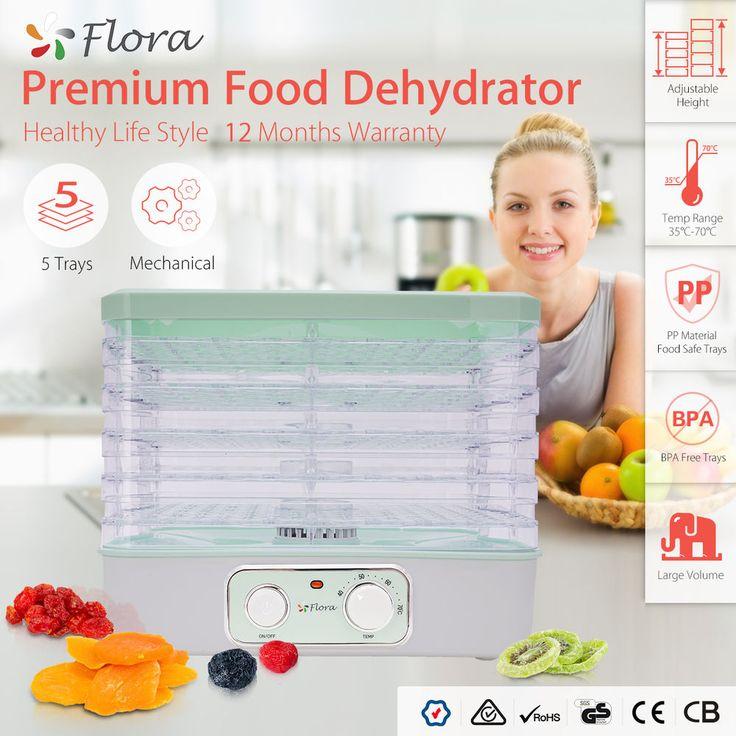 5 Trays Food Dehydrator Beef Jerky Furit Dryer Maker Preserver Household #Flora