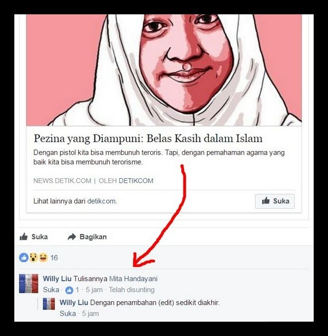 TANGAN-TANGAN DIBELAKANG AFI NIHAYA FARADISA  Oleh: Irfan Noviandana Pertama-tama saya memohon maaf kepada dik Afi jika akhirnya kami saudara-saudara dalam iman dan islam ini mengkritik dan membuka kekuranganmu via media sosial ini. Sebenarnya diantara kami ini sudah banyak yang berusaha mengingatkanmu melalui komentar dalam tulisan-tulisan yang viral atas nama kamu. Namun dengan berat hati kami harus membuka kekuranganmu agar masyarakat pada umumnya dan umat islam pada khususnya tidak…