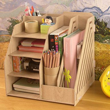 Moderne de couleur pleine en bois étagère de bureau - 2 couleurs Avaliable de 2016 ? $23.99