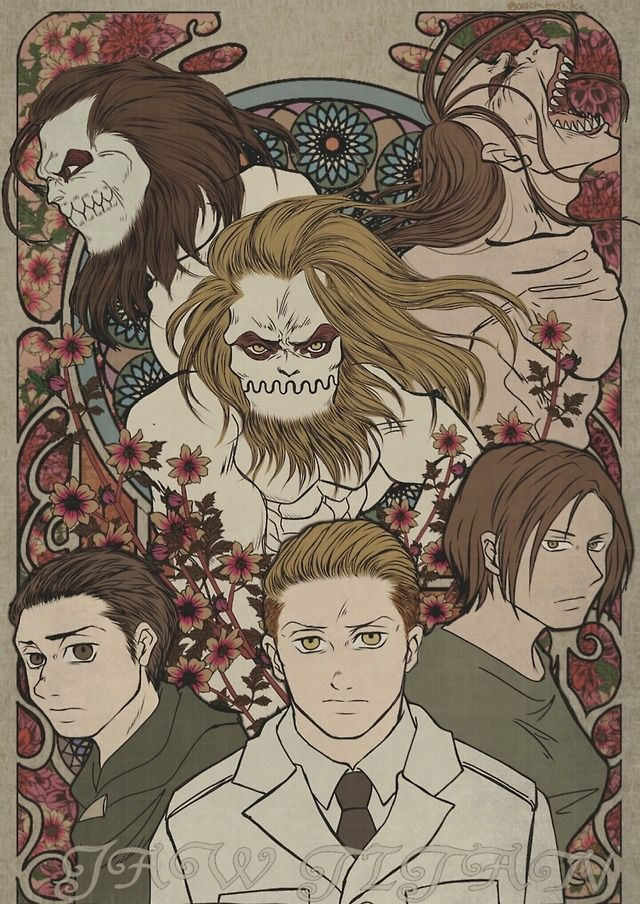Holders Of The Jaw Titan Past Present Marcel Galliard Ymir Porco Galliard Kyojin Shingeky Dibujos