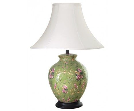 Valentino Aimee Round Green Table Lamp 169