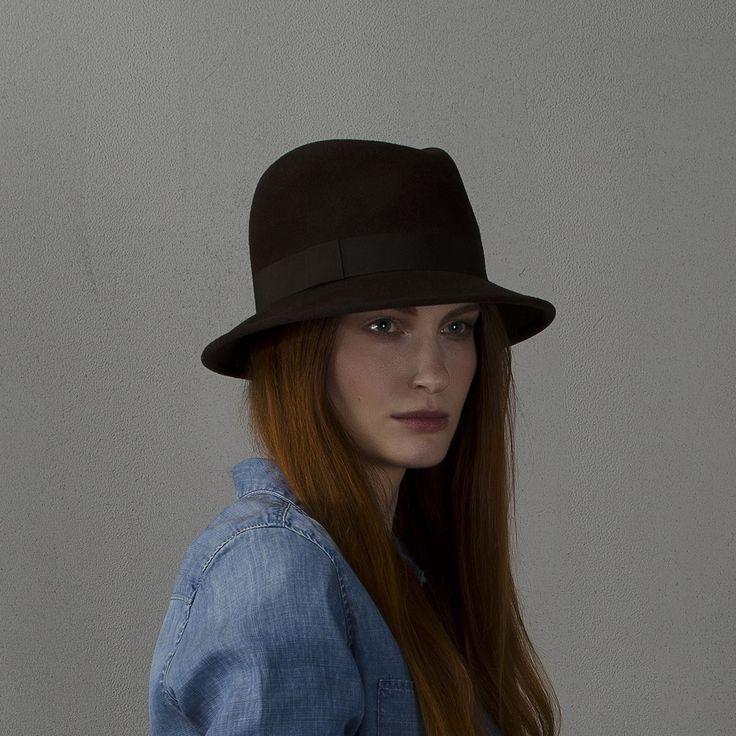 Chocolate fedora hat / Шляпа федора шоколадного цвета fotralehats.com фото photo hats lookbook