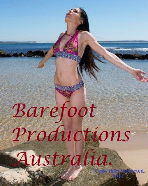 Barefoot Productions Australia. Model, Producer, Script Writer. Cover Model.  Beach Hut Swimwear Australia.