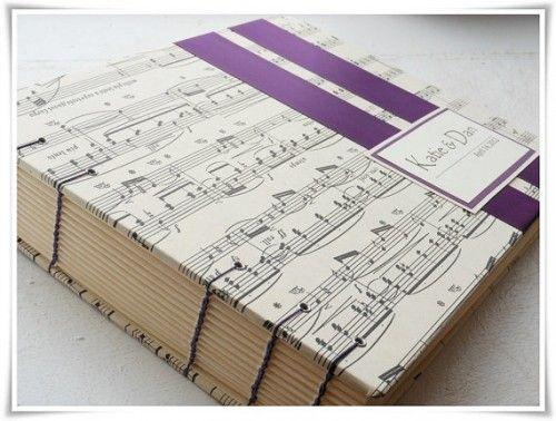 sheet music guest book
